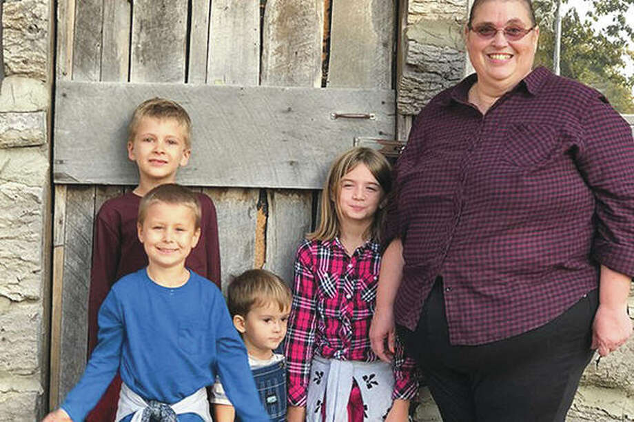 Meal train recipient Julia Covarrubias spends time with her family. Photo: Photo Provided