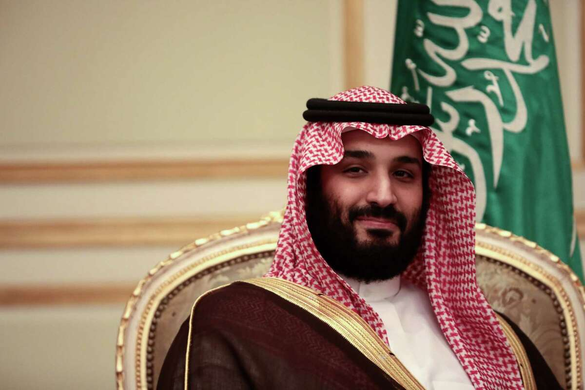 Mohammed bin Salman, Saudi Arabia's deputy crown prince, during a bilateral meeting with then-U.K. Prime Minister Theresa May in Riyadh, Saudi Arabia, on April 4, 2017.
