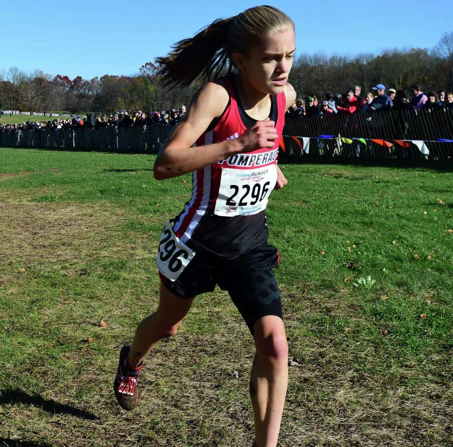Manchester, Connecticut -Wednesday, November 1, 2019: The CIAC Girls Cross Country Open Championship Friday at Wickham Park in Manchester: 2nd place finisher Kate Wiser of Pomperaug H.S., left. Photo: Peter Hvizdak / Hearst Connecticut Media / New Haven Register
