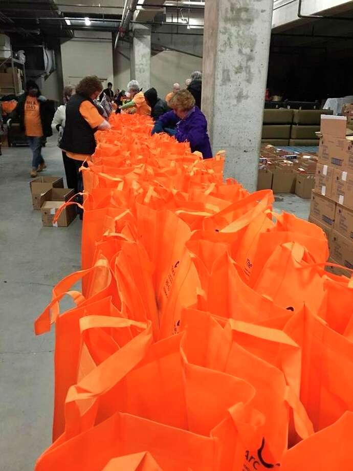 These are packages prepared last year. (Photo submitted/The Arc of Midland)
