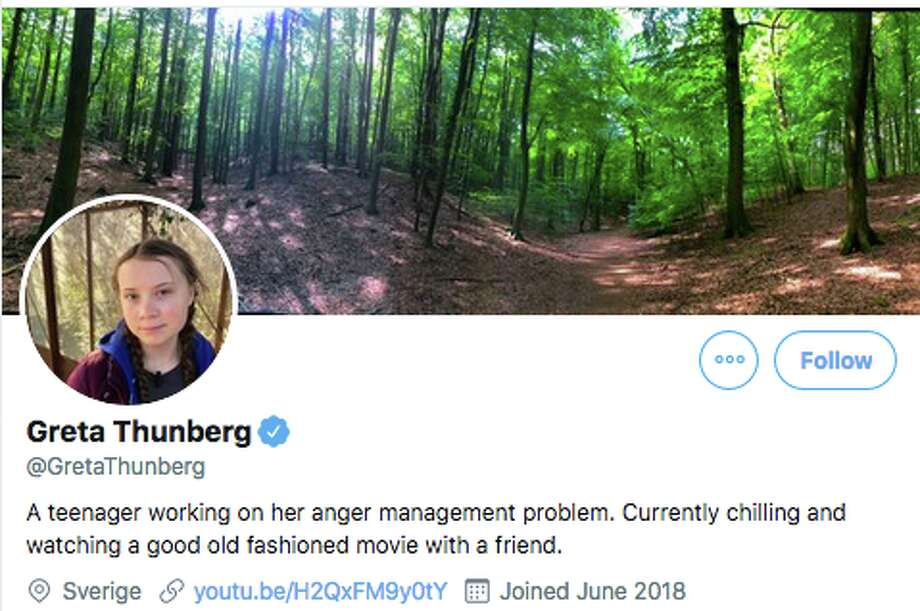 Environmental activist Greta Thunberg updated her Twitter profile in response to President Trump's tweet. Photo: Twitter