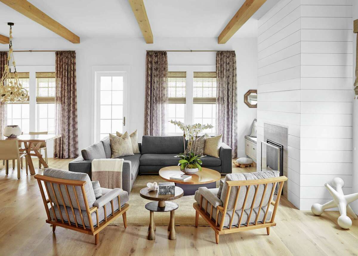 The Galveston beach home of Macy and Mayes Middleton is filled with warm neutrals, plenty of texture and updated neutral patterns.