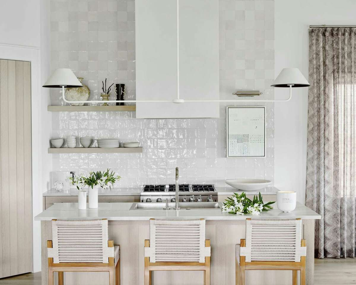 The Middletons opted for cabinets with a natural wood finish.