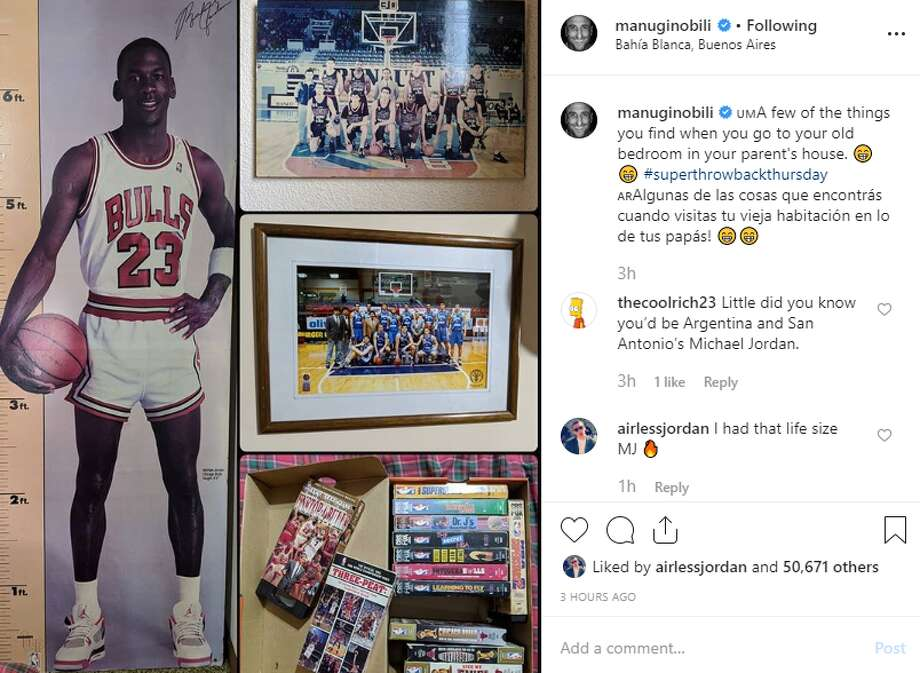 manuginobili: A few of the things you find when you go to your old bedroom in your parent's house. Photo: Instagram Screengrab