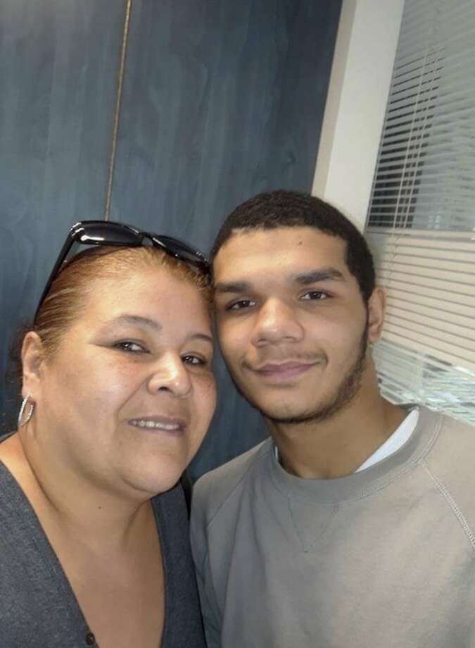 In a photo via the Legal Aid Society, Nicholas Feliciano with his grandmother, Madeline Feliciano, in 2018. Feliciano, 18, had a history of suicide attempts, but guards at Rikers Island stood by for seven minutes as he tried to kill himself. (Via Legal Aid Society via The New York Times) -- NO SALES; FOR EDITORIAL USE ONLY WITH NYT STORY NY RIKERS SUICIDE BY JAN RANSOM FOR DEC. 12, 2019. ALL OTHER USE PROHIBITED. -- Photo: Via Legal Aid Society, NYT