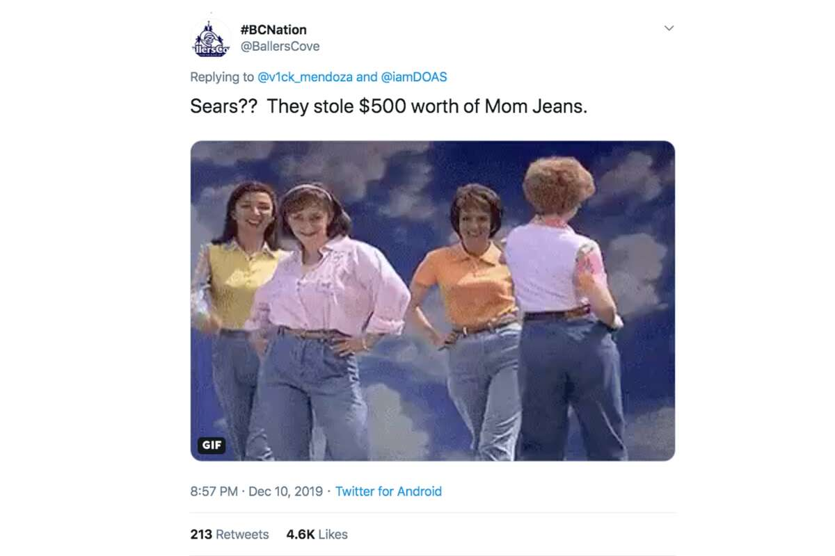 Twitter users reacted to a viral video of shoplifting that occurred at the Sears in Richmond's Hilltop Mall in Dec. 2019.