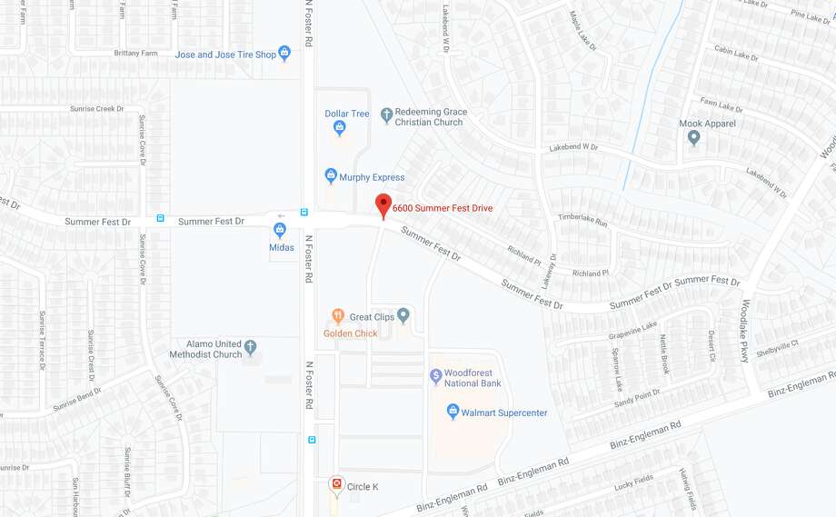 The Bexar County Sheriff's Office is investigating a dead body found on the far East Side, near the 6600 block of Summer Fest Drive. The map shows the approximate location of the scene. Photo: Google Maps