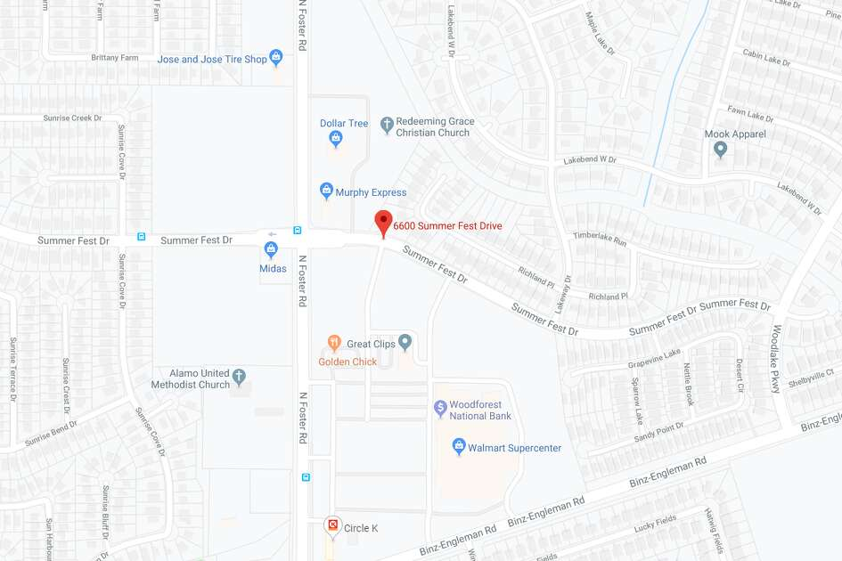 The Bexar County Sheriff's Office is investigating a dead body found on the far East Side, near the 6600 block of Summer Fest Drive. The map shows the approximate location of the scene.