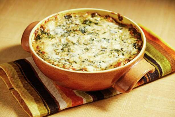 Warm Crab and Spinach Dip.