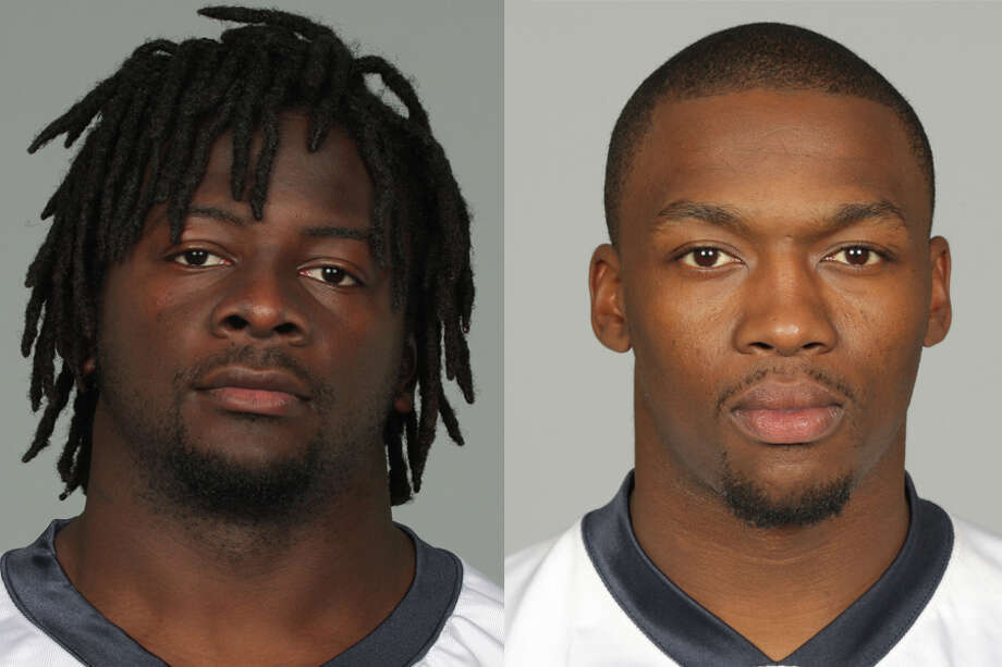 Former Texans C.C. Brown (left) and Fred Bennett are among 10 former NFL players charged with defrauding the league's health care benefit program, the Justice Department said Thursday. Photo: Associated Press File Photos