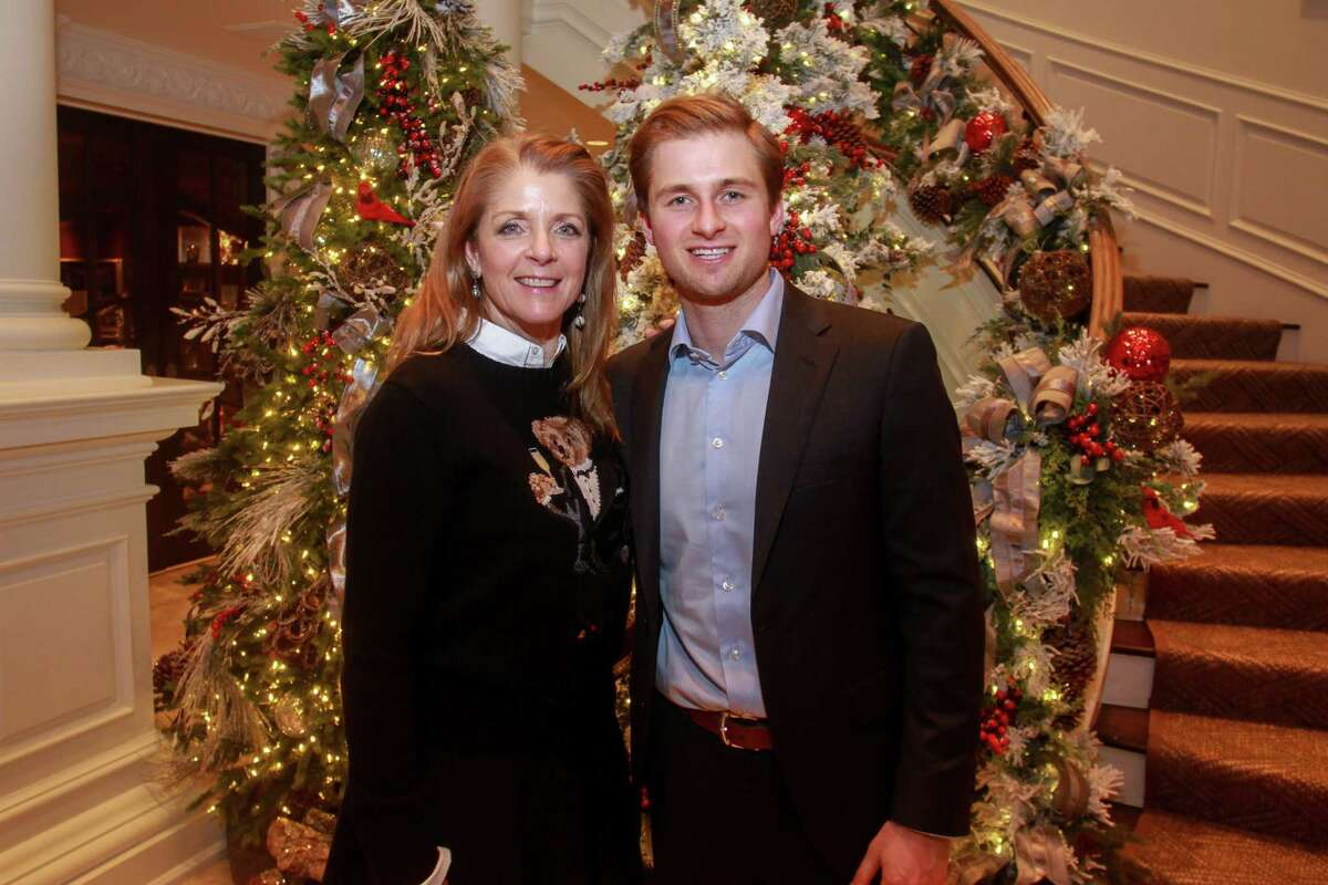 Paige Fertitta and Patrick Fertitta at Santa's Elves, benefiting MD Anderson, in Houston on December 5, 2019.