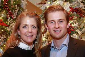 EMBARGOED FOR SOCIETY REPORTER UNTIL DEC. 10 Paige Fertitta and Patrick Fertitta at Santa's Elves, benefiting MD Anderson, in Houston on December 5, 2019.