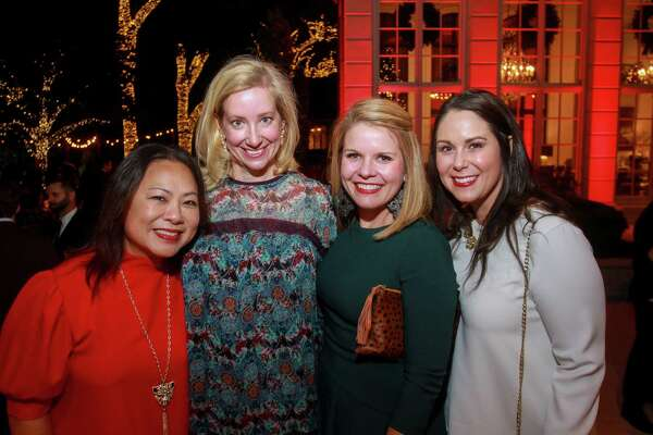 EMBARGOED FOR SOCIETY REPORTER UNTIL DEC. 10 Margaret Pinkston, from left, Shell Jenkins, Jennifer Anderson and Kristin Hamilton at Santa's Elves, benefiting MD Anderson, in Houston on December 5, 2019.