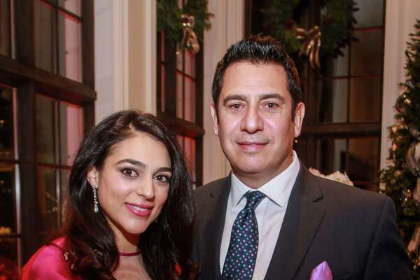 EMBARGOED FOR SOCIETY REPORTER UNTIL DEC. 10 Sophia and Hadi Elhage at Santa's Elves, benefiting MD Anderson, in Houston on December 5, 2019.