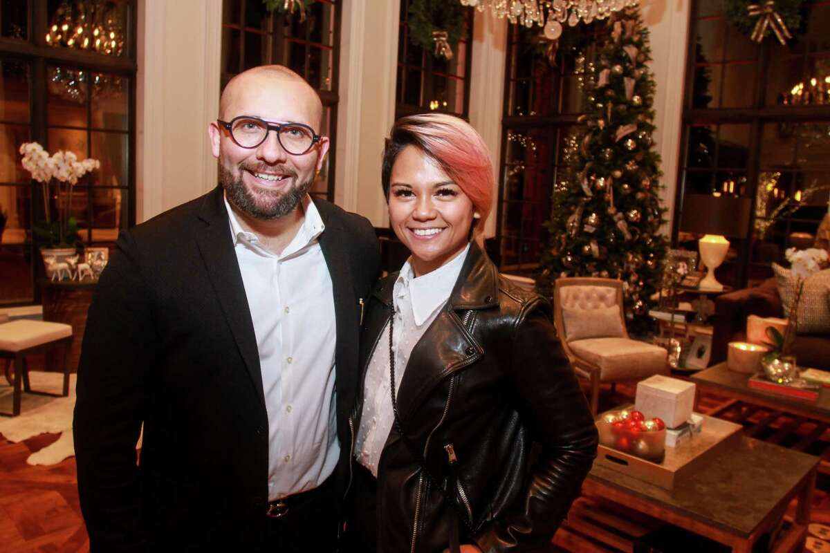 Ruben Lizaola and Daphne Dumo at Santa's Elves, benefiting MD Anderson, in Houston on December 5, 2019.
