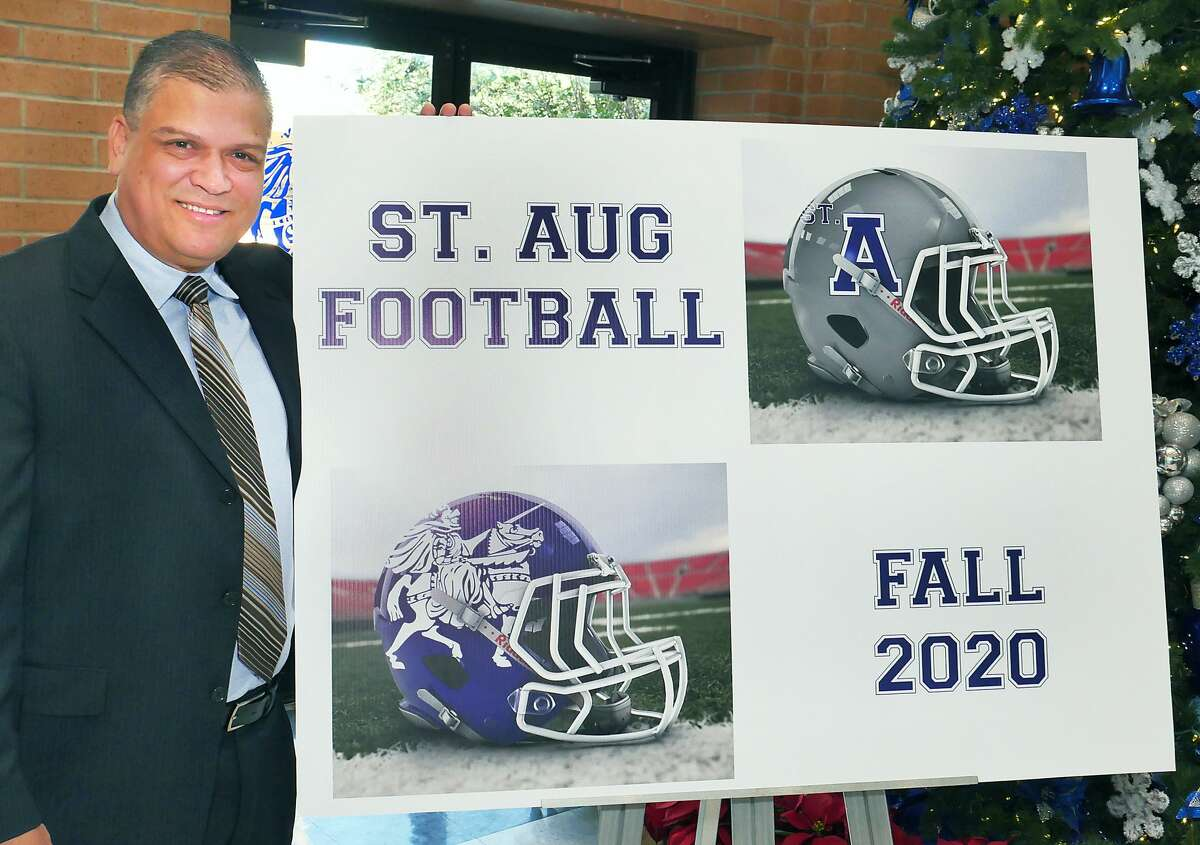 Jerry Martinez was introduced as the head football coach, for the 6-man football team at St. Augustine High School, during a press conference Wednesday, December 11, 2019 at the school's Wellness Center.