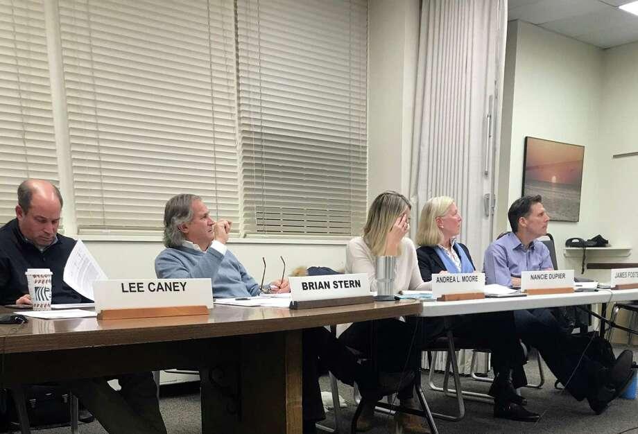 The Board of Finance on Wednesday. Taken Dec. 11, 2019 in Westport, Conn. Photo: DJ Simmons/Hearst Connecticut Media