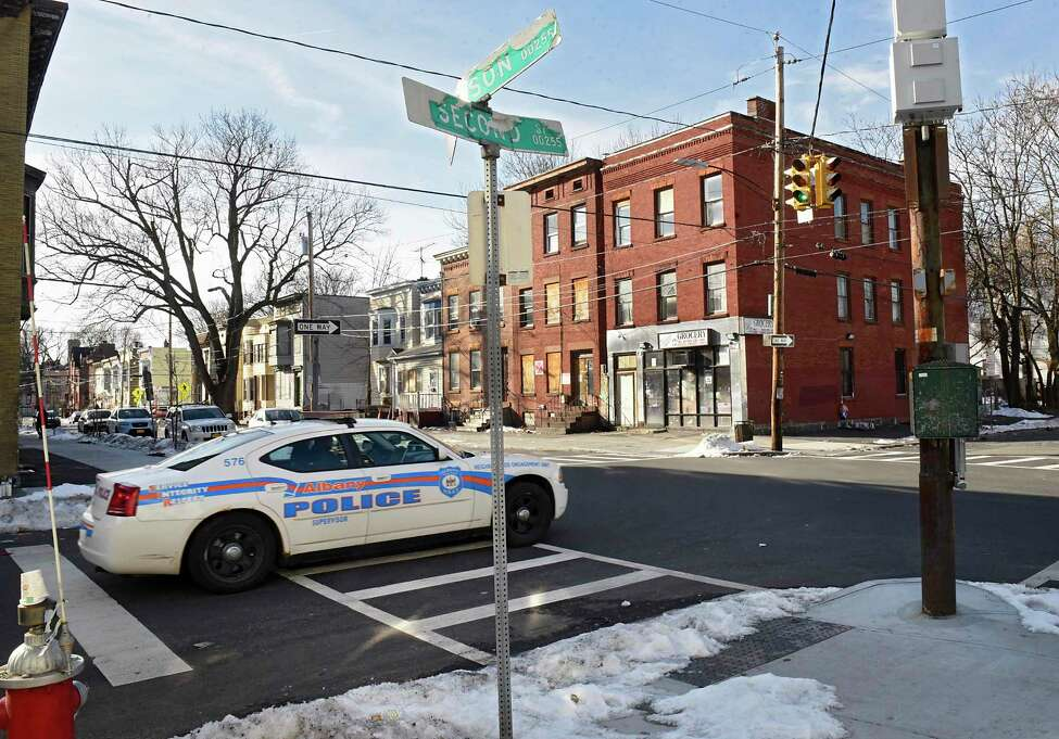 An Albany police cruiser is seen going through the intersection of Second and Judson streets on Thursday, Dec. 12, 2019 in Albany, N.Y. (Lori Van Buren/Times Union)
