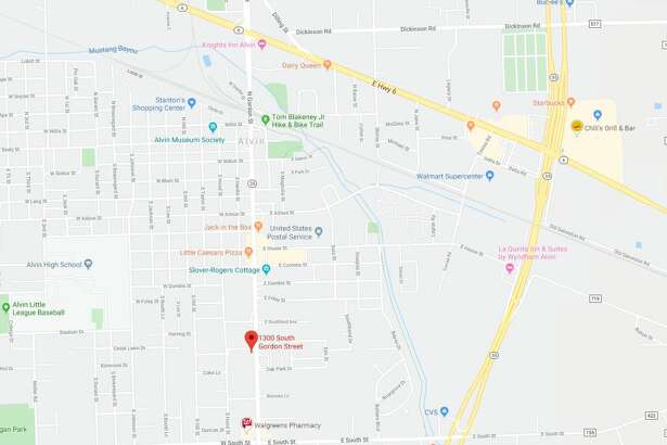 Officers shot a man who was shooting a woman in the 1300 block of South Gordon Street in Alvin on Thursday, Dec. 12, 2019.