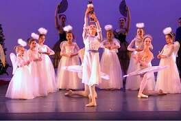 """""""The Nutcracker,"""" featuring The Greenwich Conservatory of Classical Ballet students and guest artists, is at the Westport Country Playhouse for three performances Dec. 22 and 23. Pictured is the finale of the 2018 """"Nutcracker"""" production at the Greenwich Academy Massey Theater in Greenwich."""