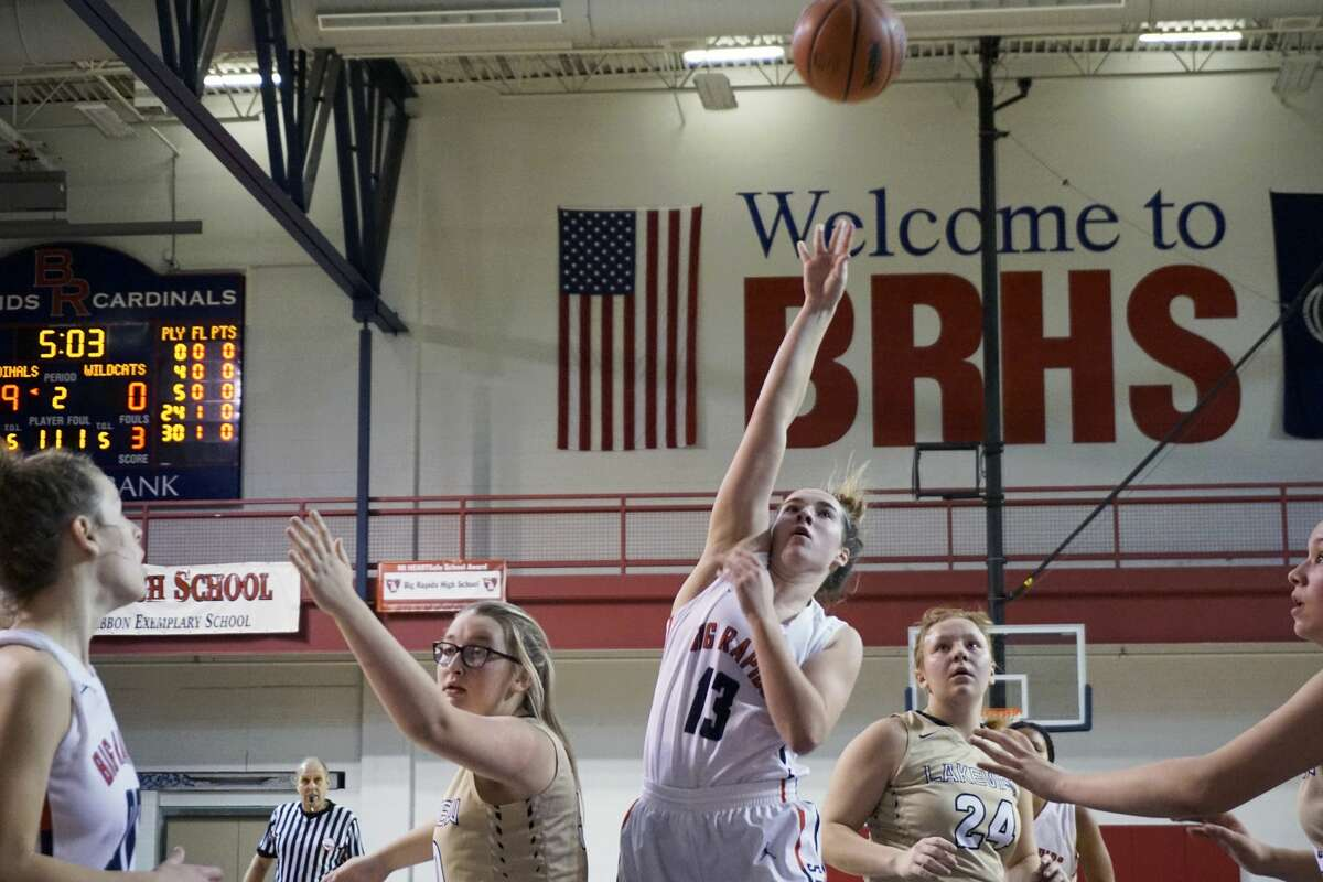 The Big Rapids girls basketball team took  down Lakeview 68-3 on Tuesday night.