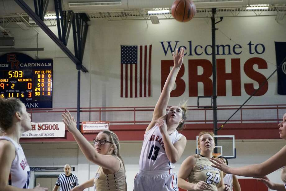 The Big Rapids girls basketball team took  down Lakeview 68-3 on Tuesday night. Photo: Joe Judd