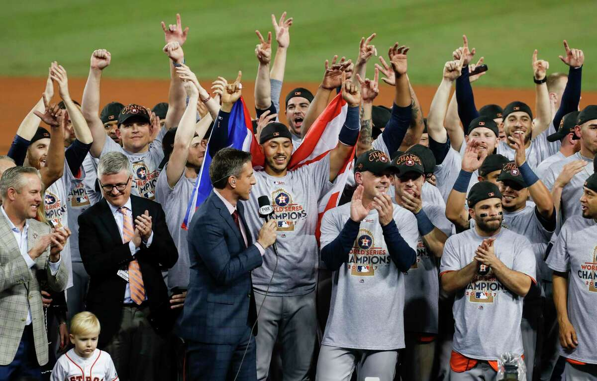 Houston Astros2017 World Series championsThe Houston Astros beat the Los Angeles Dodgers in seven games to win their first World Series title.