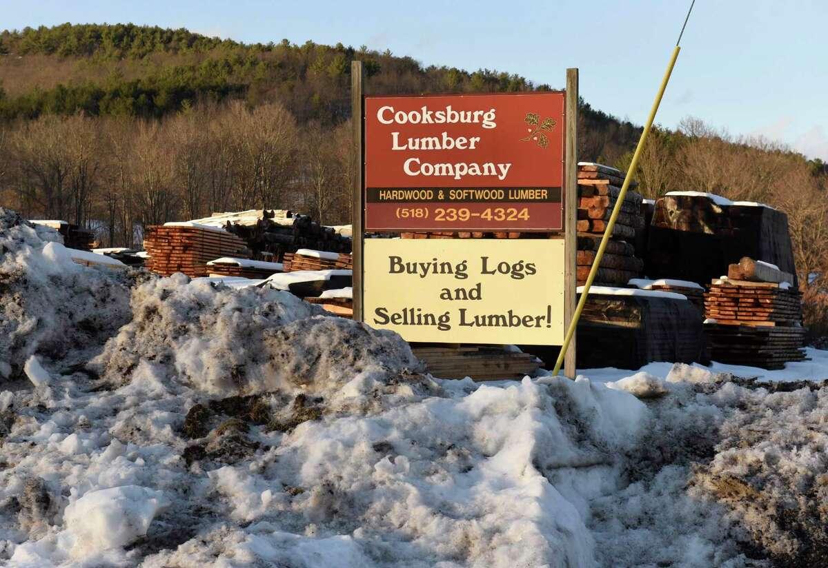 Sign at Cooksburg Lumber Company on Wednesday, Dec. 11, 2019 in Preston Hollow, N.Y. (Lori Van Buren/Times Union)