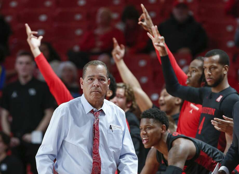 Houston Cougars head coach Kelvin Sampson watches action against Texas-Arlington Mavericks during the first half of an NCAA basketball game at Fertitta Center Wednesday, Dec. 11, 2019, in Houston. Photo: Steve Gonzales/Staff Photographer