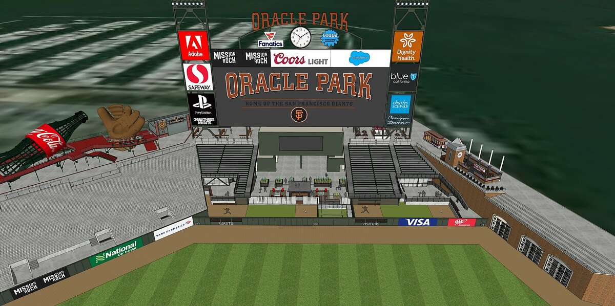 The Giants on Thursday unveiled designs for the new bullpens at Oracle Park that will be located behind the centerfield wall in 2020.