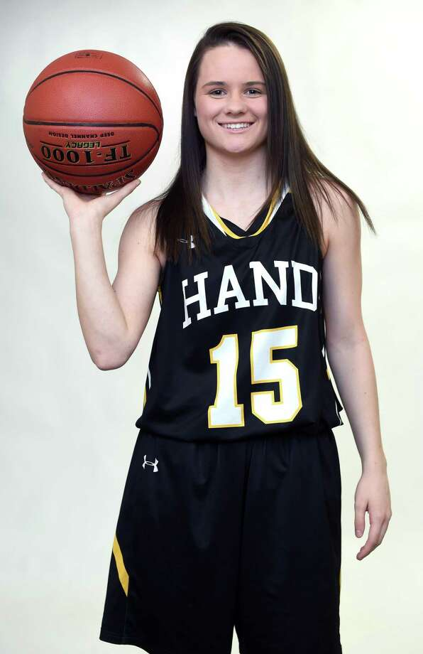 All-Area basketball player Sara Wohlgemuth of Daniel Hand High School photographed at the New Haven Register on March 25, 2019. Photo: Arnold Gold / Hearst Connecticut Media / New Haven Register