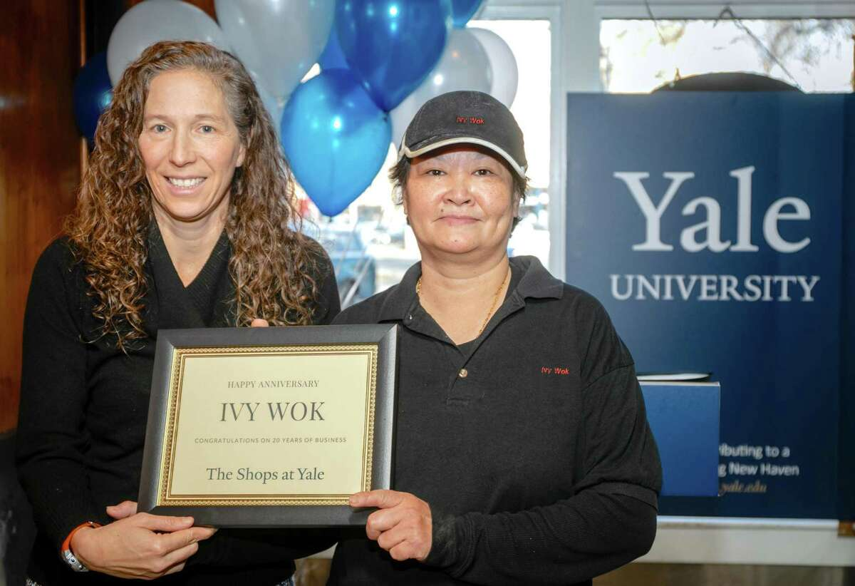 Yale University Properties held a 20th anniversary ceremony in honor of Ivy Wok on December 12, 2019at The Shops at Yale in downtown New Haven.