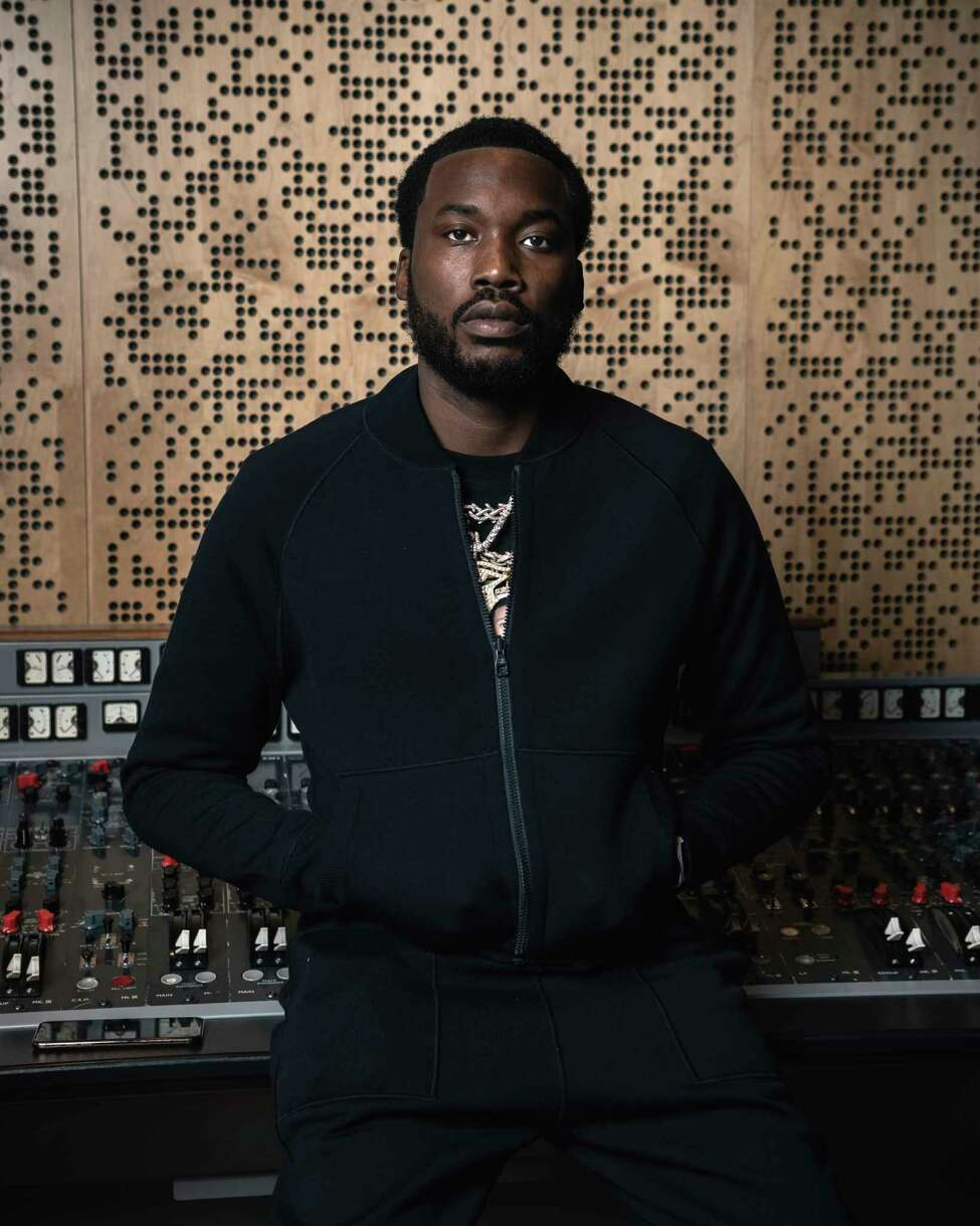 This Dec. 4, 2019 photo shows Meek Mill posing for a portrait at Jungle City Studios in New York. Mill, born Robert Rihmeek Williams, is competing for a Grammy Award for best rap album with the platinum-seller a€œChampionships,a€ his passionate project detailing his life. (Photo by Christopher Smith/Invision/AP)