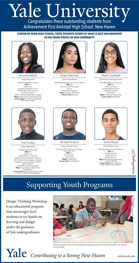 """The Register's annual """"Senior Spotlight"""" series, sponsored byYale University, spotlights talented New Haven-area high school seniors and shares information about them and their dreams for the future. Photo: Kathy Emons"""