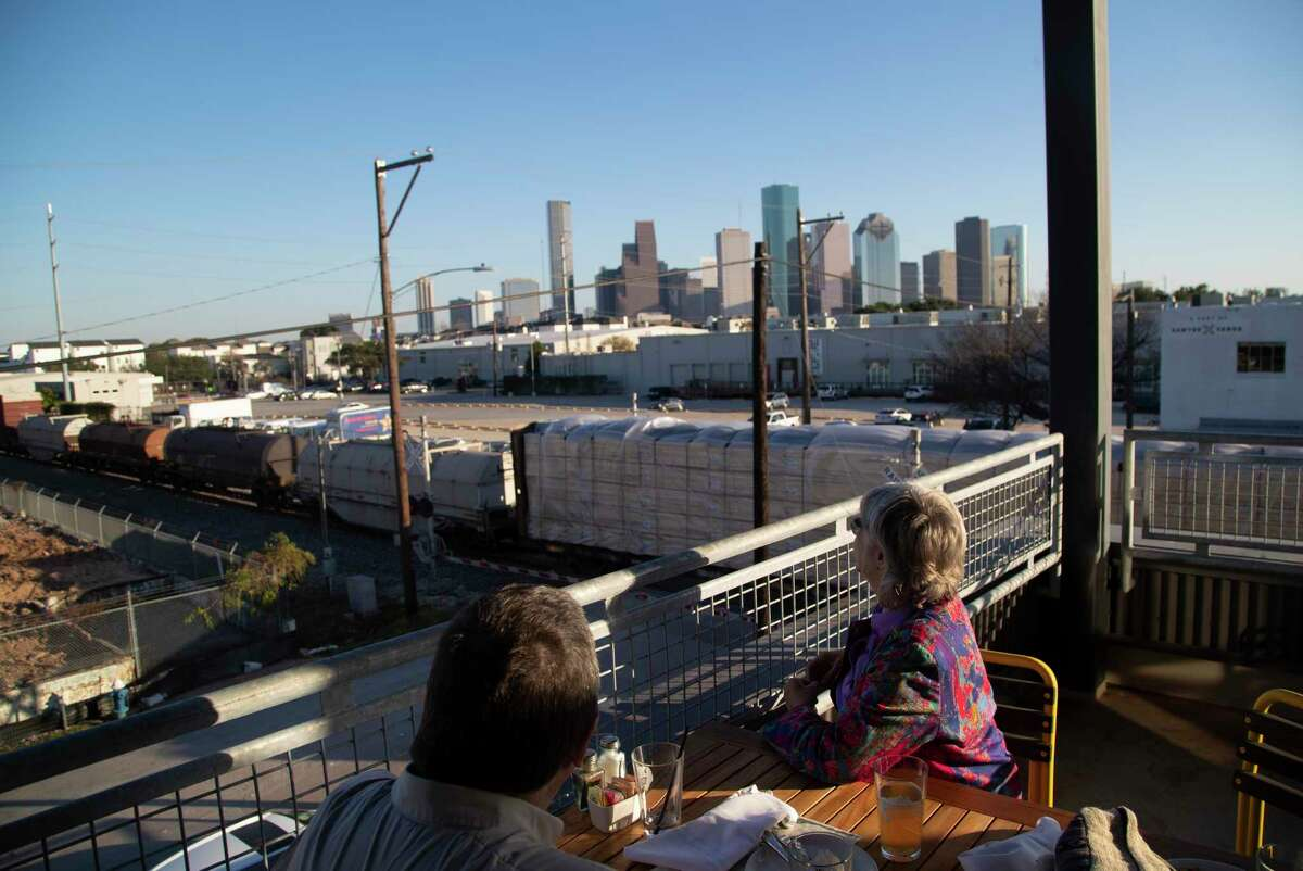 Buffalo Bayou Brewing Company2101 Summer St. Enjoy a view of the downtown Houston skyline from the second floor at Buffbrew.