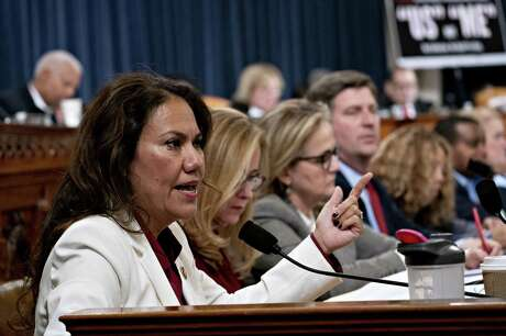 Representative Veronica Escobar, a Democrat from Texas, speaks during a House Judiciary Committee hearing in Washington, D.C., U.S., on Thursday, Dec. 12, 2019. The Judiciary Committee is set to finish debating articles of impeachment against President Donald Trump today with a likely party-line vote to send the resolution to the floor of the House. Photographer: Andrew Harrer/Bloomberg