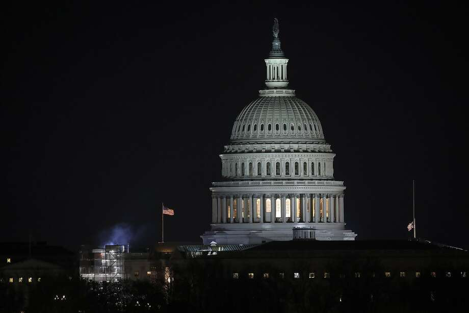 In this file photo, the U.S. Capitol dome stands after dark. Photo: Drew Angerer, Getty Images