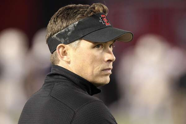 Lamar University named Blane Morgan, the San Diego State quarterbacks coach shown here in a 2015 photo, as the Cardinals' new head football coach.