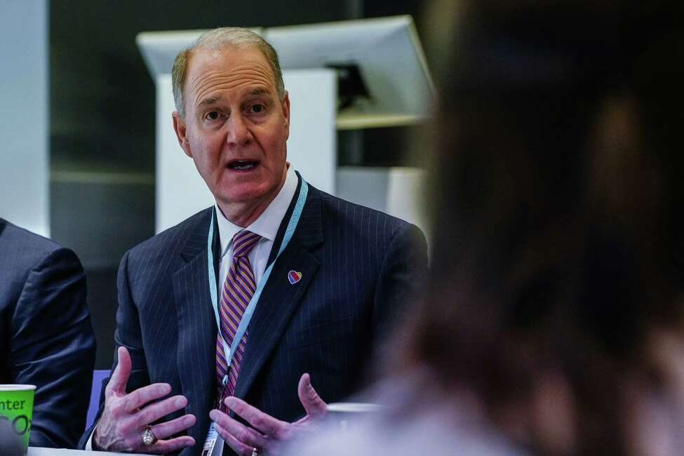 Gary Kelly, chief executive officer of Southwest Airlines Co., speaks during an interview in New York, U.S., on Thursday, Dec. 12, 2019. Boeing Co.A agreed to partially compensateA Southwest Airlines, one of the biggest customers for its 737 Max aircraft, for damages arising from the narrow-body workhorse's grounding since March. Photographer: Christopher Goodney/Bloomberg