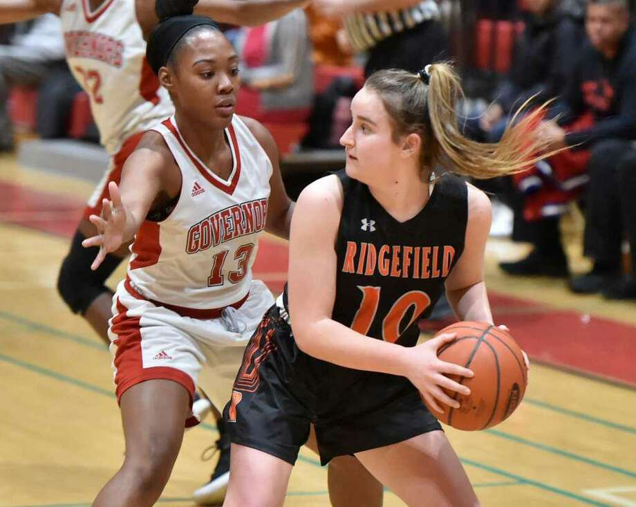 Senior guard Kate Wagner is among the top returnees for the Ridgefield girls basketball team. Photo: Christian Abraham / Hearst Connecticut Media