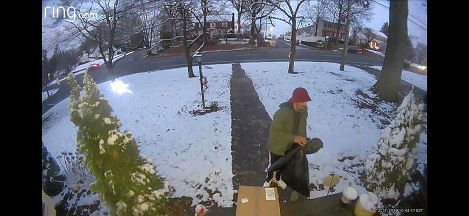 An image of the man Fairfield police say allegedly took packages from town homes on Wednesday. Photo: Contributed Photo / Fairfield Police Department