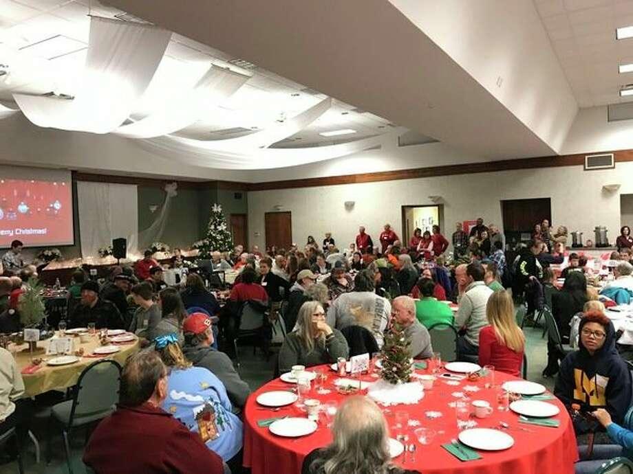 The fellowship hall was stuffed to capacity.(Photo provided)