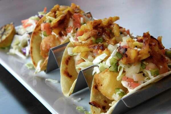 Baja fish tacos at Front Street Social Club on Thursday, Dec. 5, 2019 in Ballston Spa, N.Y. (Lori Van Buren/Times Union)