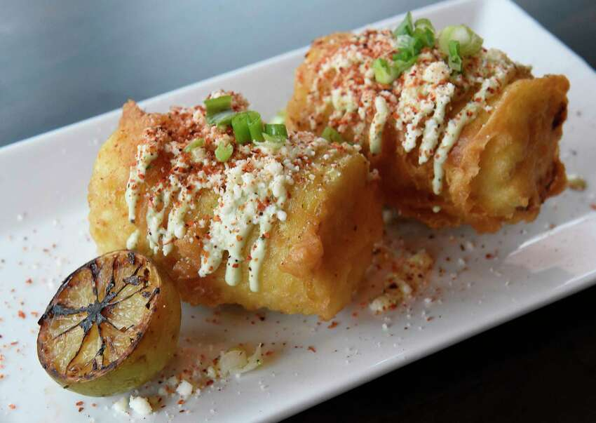 Crispy battered street corn at Front Street Social Club on Thursday, Dec. 5, 2019 in Ballston Spa, N.Y. (Lori Van Buren/Times Union)