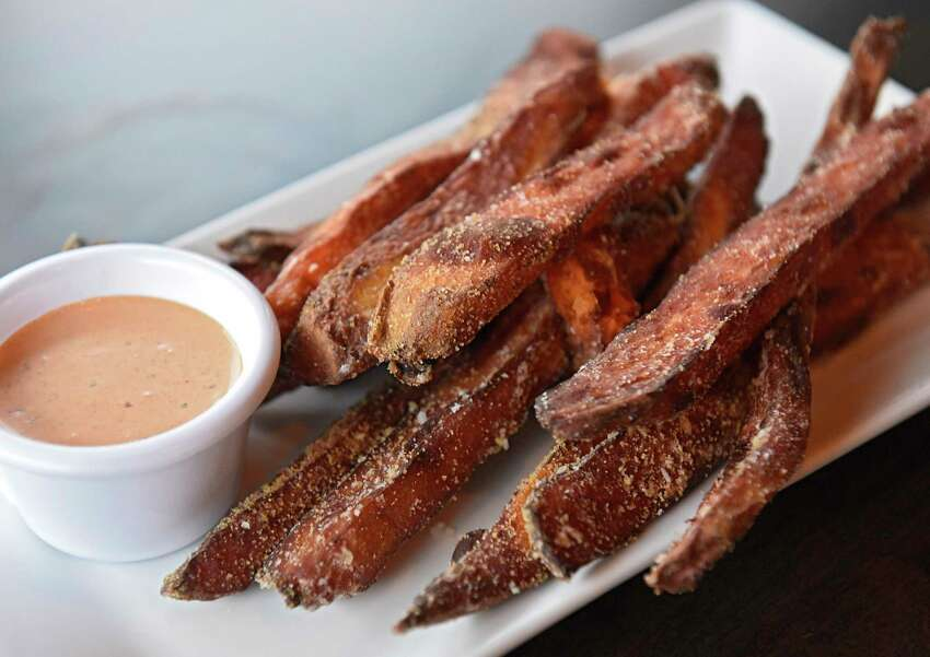 Hand cut sweet potato fries at Front Street Social Club on Thursday, Dec. 5, 2019 in Ballston Spa, N.Y. (Lori Van Buren/Times Union)