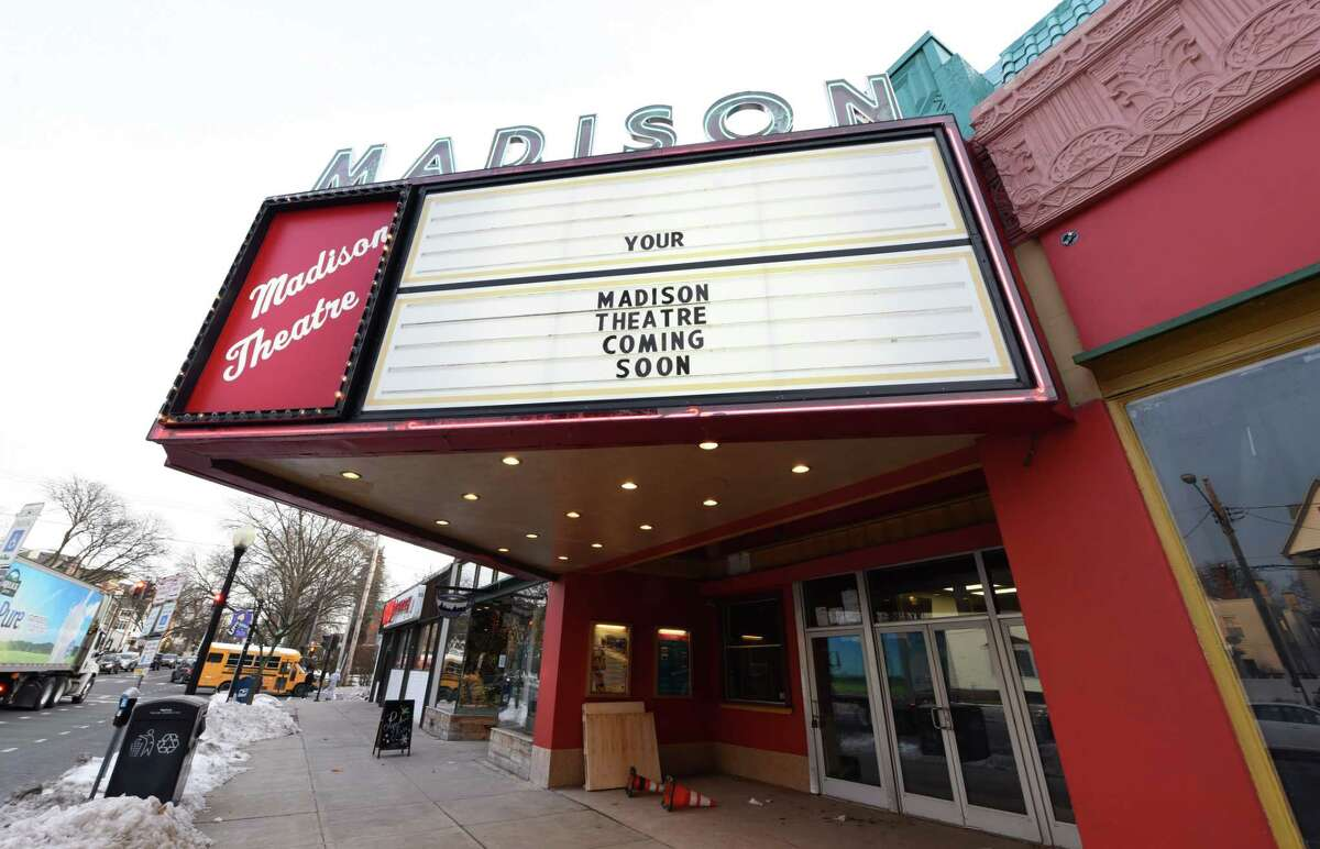 The Madison Theatre marquee touts its reopening on Thursday, Dec. 12, 2019, on Madison Avenue in Albany, N.Y. (Will Waldron/Times Union)