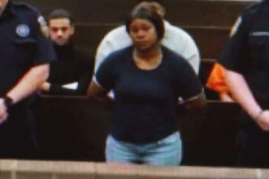 Tiffany Henderson, 37, was charged with hindering the apprehension of a felon for allegedly taking her son to a hotel to hide from police officers after he fled a crime scene where Sgt. Kaila Sullivan died. A judge set her bond at $50,000 during a bail hearing overnight. Photo: OnScene.TV