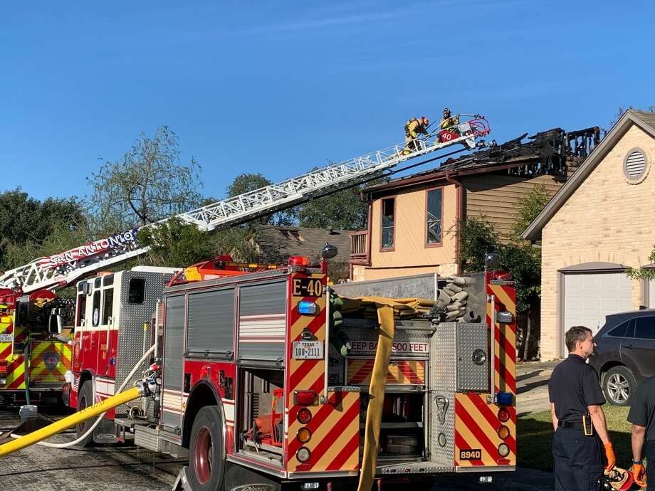 Firefighters were called to the scene, on the 3600 block of Colter Road, at approximately 8:20 a.m. They arrived to find heavy fire on the second floor and attic. Photo: Mark Dunphy