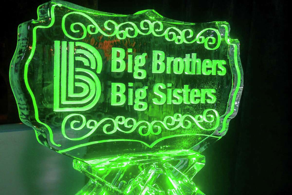 The Big Brothers Big Sisters logo is seen during an event in Texas in November.