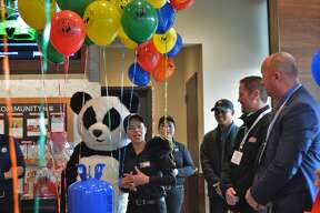 Panda Express in Midland is celebrating its Grand Opening today, Friday, Dec .13. The new restaurant, located at 6902 Eastman Avenue, ceremoniously cut the ribbon with members of the Midland Business Alliance and the Midland community in attendance. (Ashley Schafer/Ashley.Schafer@hearstnp.com)